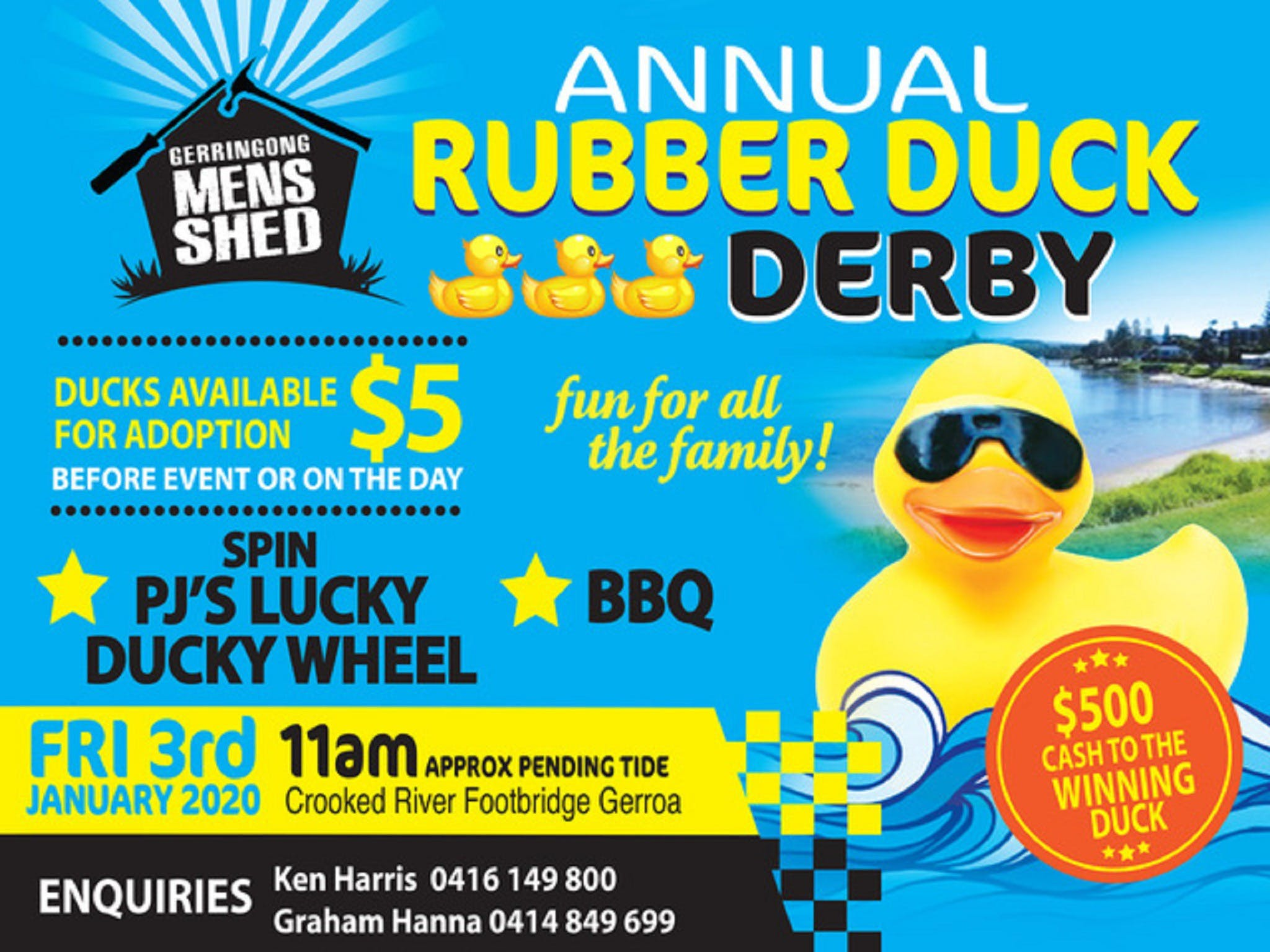 Gerringong Mens Shed Annual Duck Derby - Phillip Island Accommodation