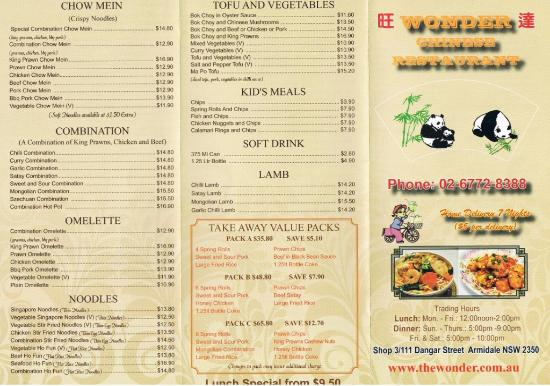 Wonder Chinese Restaurant - Phillip Island Accommodation